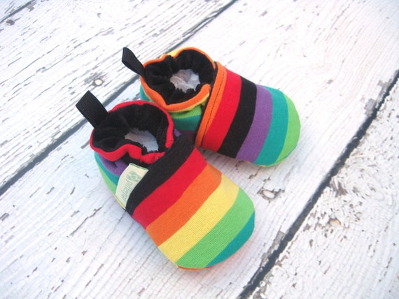 Electric Rainbow All Fabric Soft Sole Shoes