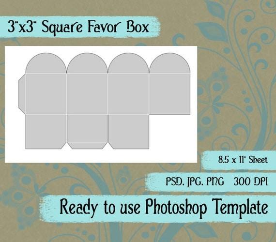 party favor box digital collage photoshop template 3 x. Black Bedroom Furniture Sets. Home Design Ideas