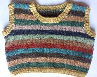 Hand Knitted Baby Tanktop. Age 3-6 months