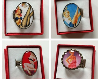 Pin Up Collection- Adjustable Rings