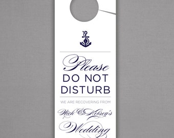FAST SHIPPING - Set of 25 - Anchors Away Personalized Wedding Door Hangers