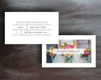 SALE Business Cards - Business Card Template for Photographers & Photoshop Users - Premade Business Card Design - Photography Templates
