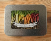 Colourful Vegetable Garden Seed Gift Set in Tin Box