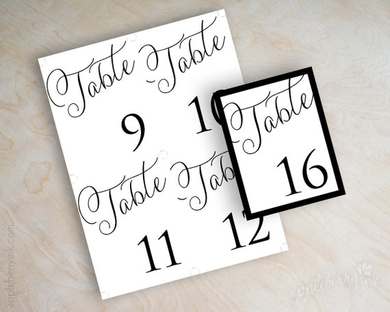 Priceless image throughout diy printable table numbers
