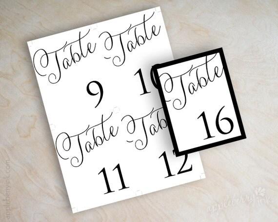 Juicy image intended for diy printable table numbers