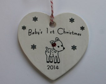 Baby's 1st Christmas Ornament - fawn 2017