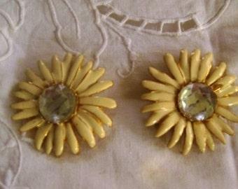 Vintage Large Flower Earrings