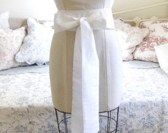 Ivory Bridal Sash - Bridal Sash Belt - Bridal Sash Bow.