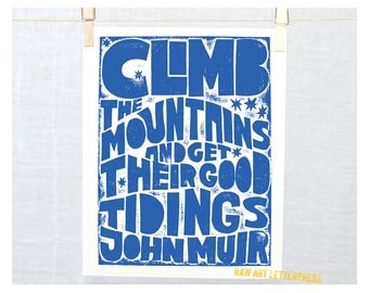 Climb the Mountains John Muir inspirational quote Graduation