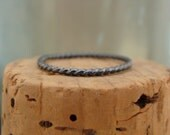 Oxidized Sterling Silver Stack Ring--Rope--Handcrafted--Sweet & Simple
