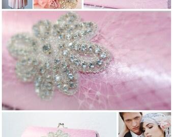 Bridal Accessory - Bridal Clutch - Custom Clutch - Ivory Shabby Chic Wedding Clutch - Rustic Wedding