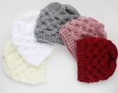 Knit Baby Hat Baby Boy Hat Newborn Baby Beanie / Baby Girl Hat / Photo Prop Hat / Knit Baby Beanie / Infant Hat celtic knot