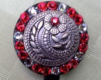 Bloomin' Red Evening - Retractable Lanyard Reel