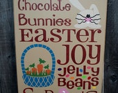 Easter primitive wood sign