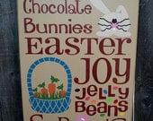 Easter primitive wood sign