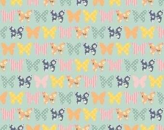 SALE - Riley Blake - Beautiful Butterfly in Blue - Fat Quarter