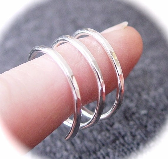 TRINITY Ring / Sterling Silver Spiral Ring / Thumb Ring