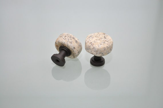 Tumbled Reclaimed Granite Cabinet Knob Set - Ready to Ship