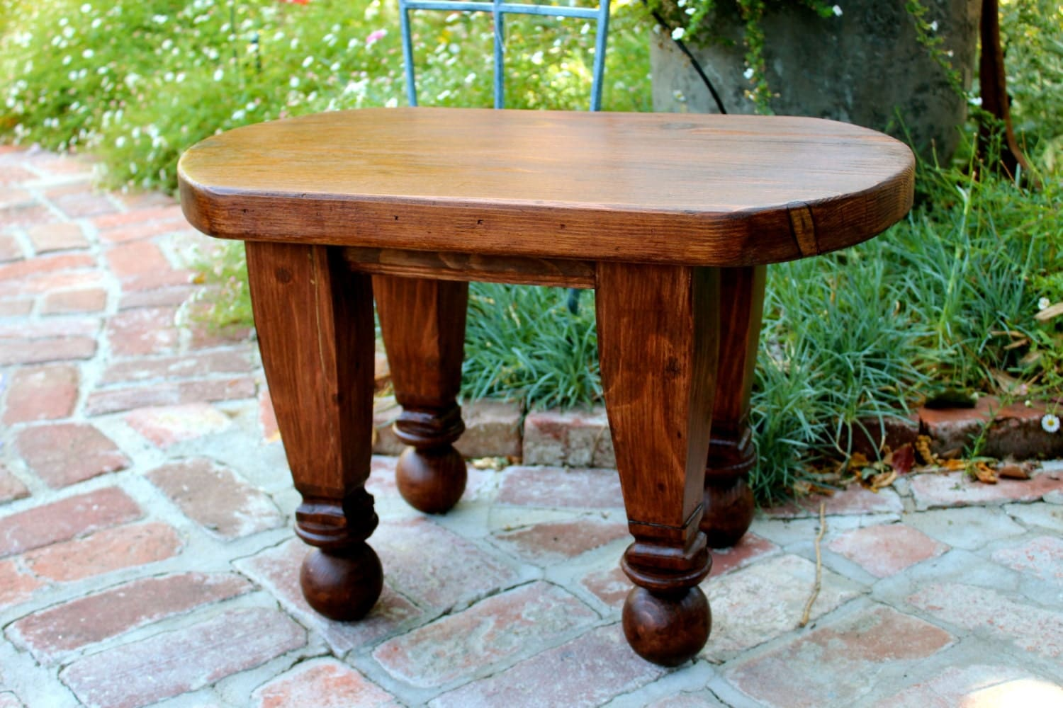 Reclaimed Furniture Small Table Oval Table Coffee