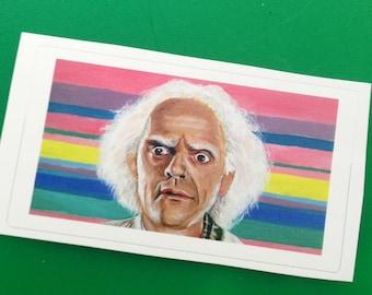Doc Brown Pop Art Sticker Back to the Future Fan Art Sticky