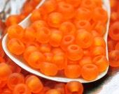 Miyuki Matte Orange 6/0 Glass Seed Beads or Beads plus Jump Rings - 100% Guarantee