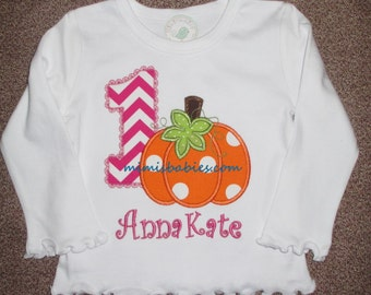 Pumpkin Birthday Shirt Girls Pumpkin Birthday Shirt Chevron Birthday Shirt