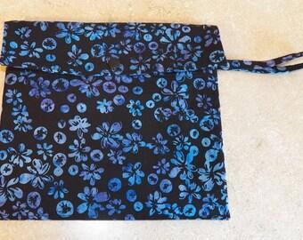 Dual Pocket Wetbag- Blueberry Batik