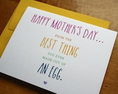 Mother's Day Card - Best Thing Out of an Egg