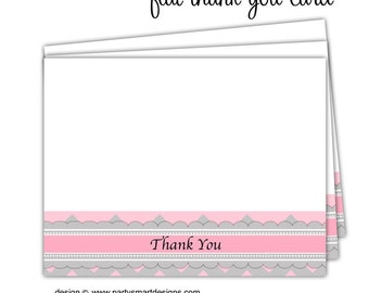 Thank You Note Cards/Flat Thank You Cards/Folded Thank You Cards/Flat Notecards/Folded Notecards/set of  10