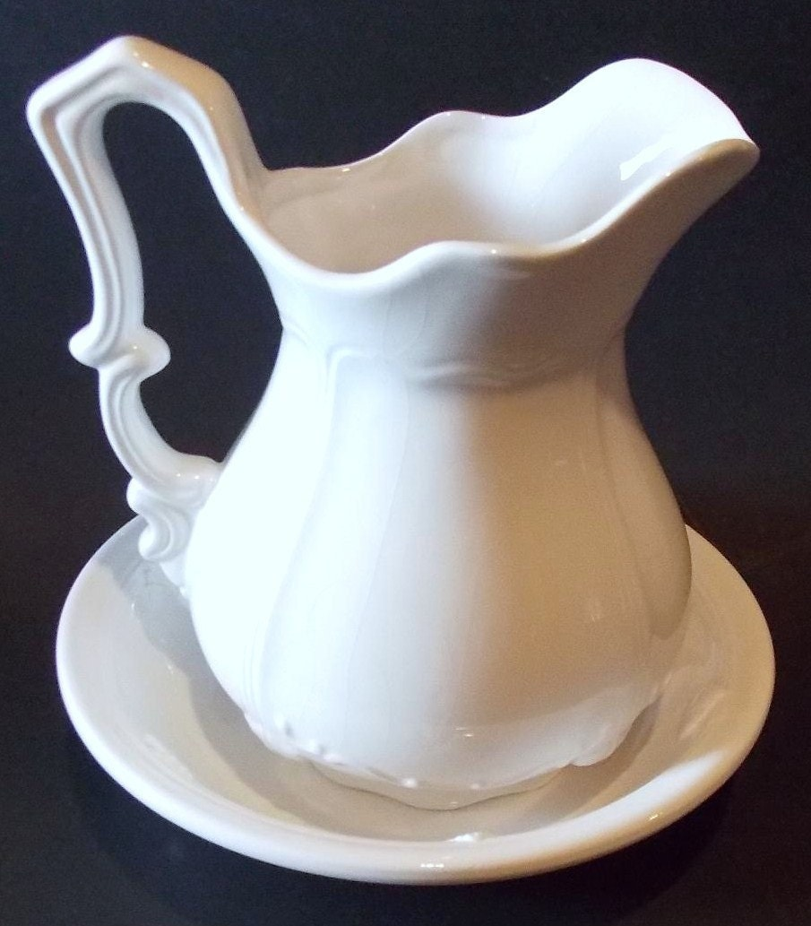 Vintage Rosie Pitcher And Bowl