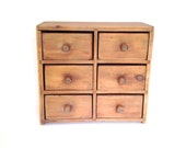 Vintage Wooden Spice Rack-Drawer-Wall Hanging-Organizer-Organization-Cabinet-Apothecary