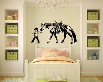 Horse-Horse and rider decal-Vinyl wall decor-Horse sticker-20 X 40 inches