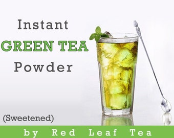 Instant Green Tea Sweetened - All Natural