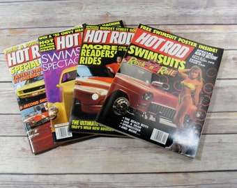 Hot Rod Magazines Lot of 4 magazines 1991 & 1992 with Swimsuits