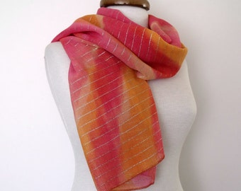 Orange and Pink Scarf Shawl Neckwarmer Women Scarf -Ready For Shipping