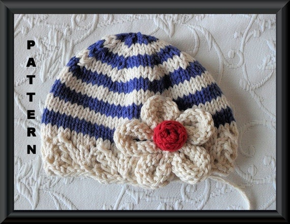 Baby Hat Pattern Knitted Hat Pattern Newborn Hat Pattern Infant Hat Pattern Knit Hat Pattern Children Clothing: STRIPES OR SOLIDS