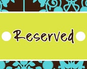 Reserved Listing Elaine
