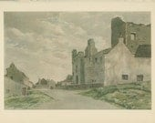 Sale 20% off Middleham Castle, Yorkshire, Vintage Print 201, Old England Town/Countryside, Great Britain World War 2, WW2
