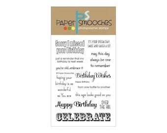 Paper Smooches Happy Birthday stamp set