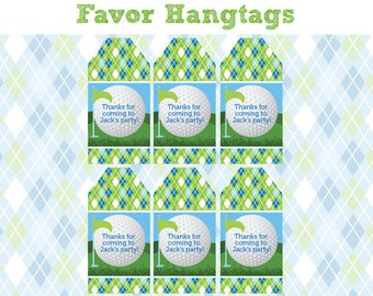Golf Birthday Party - FAVOR TAGS - Printable Golf Party Decorations - Printable Favor Hantags - DIY Golf Birthday Party