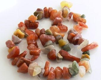 Chunky Lodolite Nugget Chips Gemstone Beads 16-Inch Strand