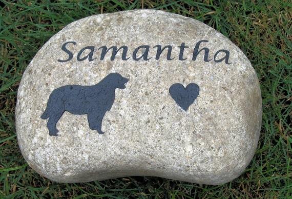 Personalized Golden Retriever Pet Memorial Stone Memorial