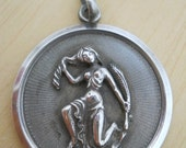 RESERVED for Carlos Large Sterling Silver Pendant Virgo