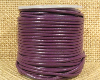 1.5mm Round Indian Leather - Violet  - L1.5-136