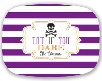 Personalized Melamine Platter--Halloween Eat If You Dare