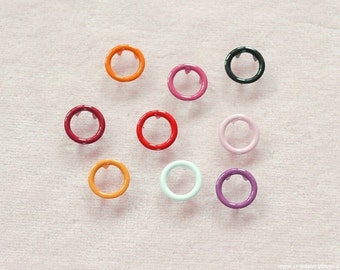 100 sets, Mixed Colors (9 colors) Open Prong Snap Button, Lead-Free and Nickel-Free