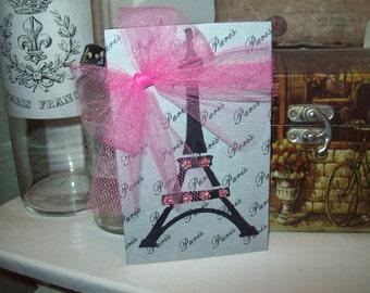 Pink And Gray EIFFEL Tower Block PARIS Decor,Paris Theme,Paris Party Decor,