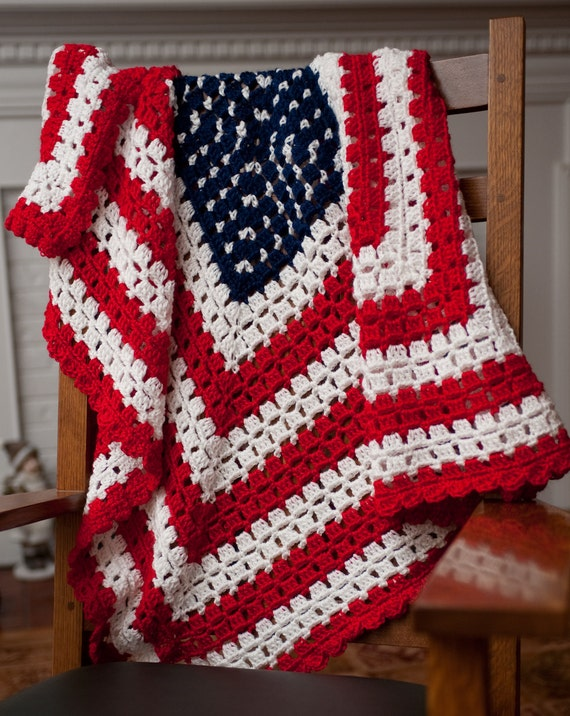 PATTERN for American Patriotic Flag Baby Blanket by ...