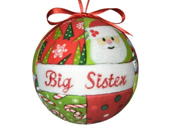 Big Sister Christmas Ornament by CraftCrazy4U on Etsy