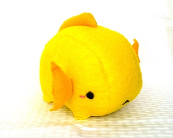 Yellow Axolotl Plush